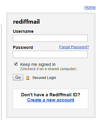 Rediffmail Sign In Signup Account