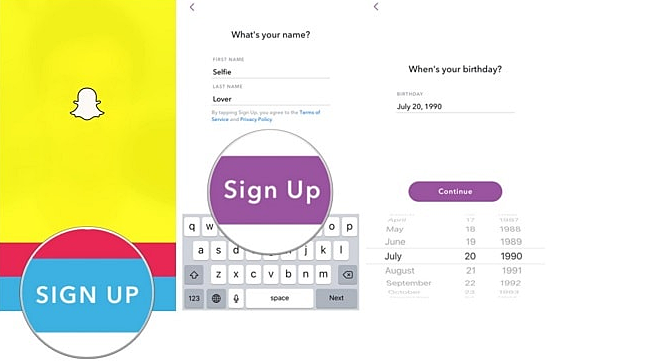 Snapchat Account Registration