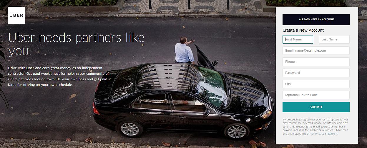 Uber Driver Login
