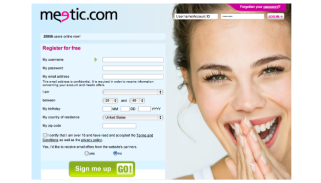 Meetic Sign up - Meetic Registration - Create Meetic.com Account
