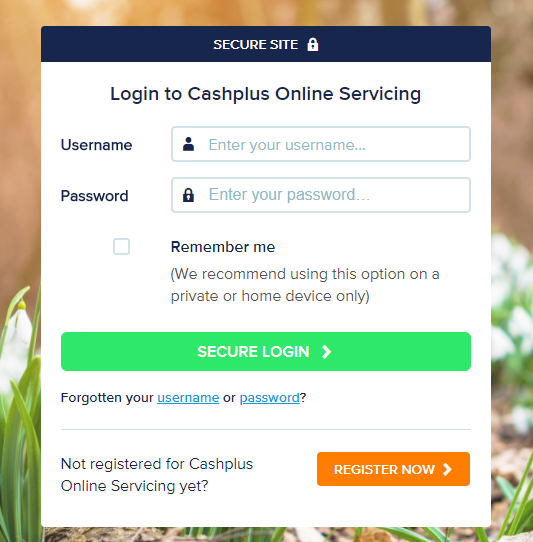 Create your Cashplus Online Servicing account now - Cashplus Registration