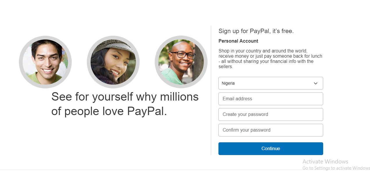 Pay Sign up - Register for PayPal Account - Sign up Paypal