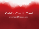 Kohl's Credit Card Login | Kohl's Charge Card Account Login