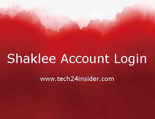 Shaklee Account Login