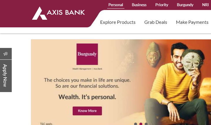 Axis bank Fastag login
