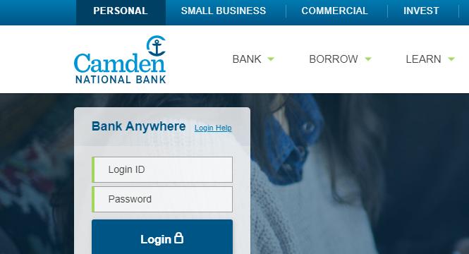 Camden National Bank Online Banking Sign-In