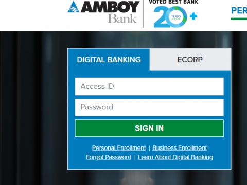 Amboy Bank Online Banking Login